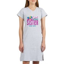 Custom Cutest Little Sister Women's Nightshirt