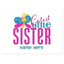Custom Cutest Little Sister Invitations