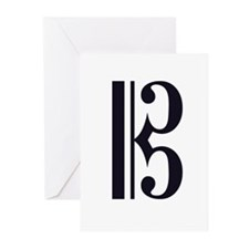 Alto Clef Alone Greeting Cards (Pk of 10)