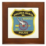 Virginia Beach PD Motors Framed Tile