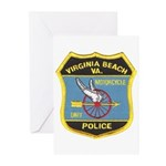 Virginia Beach PD Motors Greeting Cards (Package o