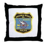 Virginia Beach PD Motors Throw Pillow