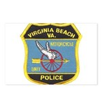 Virginia Beach PD Motors Postcards (Package of 8)