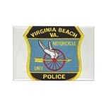 Virginia Beach PD Motors Rectangle Magnet
