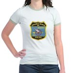 Virginia Beach PD Motors Jr. Ringer T-Shirt