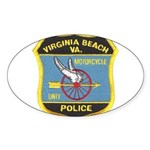 Virginia Beach PD Motors Oval Sticker