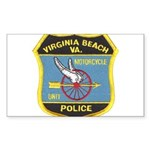 Virginia Beach PD Motors Rectangle Sticker