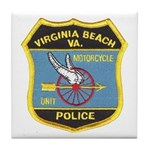 Virginia Beach PD Motors Tile Coaster