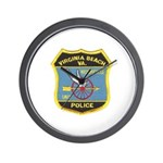 Virginia Beach PD Motors Wall Clock