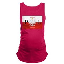 Poland Polska License Plate.png Maternity Tank Top