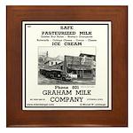 Grahams Dairy Framed Tile