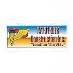 Pathfinder Construction Aluminum License Plate