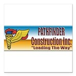 Pathfinder Construction Square Car Magnet 3