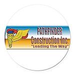 Pathfinder Construction Round Car Magnet