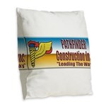 Pathfinder Construction Burlap Throw Pillow