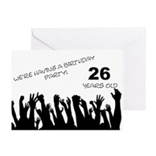 26th birthday party invitation Greeting Cards (Pk