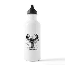 I Love Lobster Water Bottle