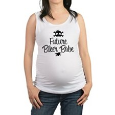 Future Biker Babe Maternity Tank Top