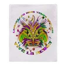 Mardi Gras Queen 4 Throw Blanket