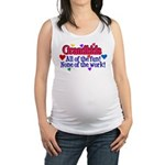 Grandkids - All the fun! Maternity Tank Top