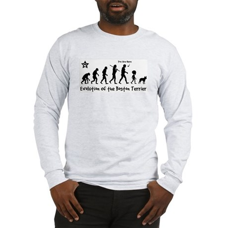 Boston Terrier Evolution! Long Sleeve T-Shirt
