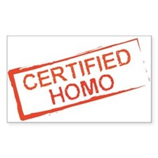 Certified Homo Rectangle Decal