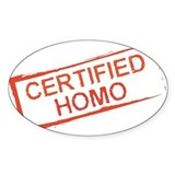 Certified Homo Oval Decal