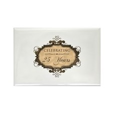 25th Wedding Aniversary (Rustic) Rectangle Magnet