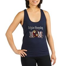 Belgian Sheepdog Mom Racerback Tank Top
