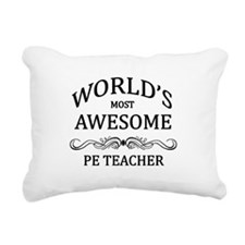 World's Most Awesome PE Teacher Rectangular Canvas