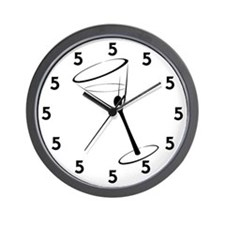 Martini Hour 5 oclock Wall Clock