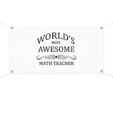 World's Most Awesome Math Teacher Banner