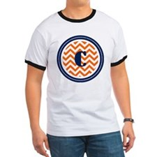 Orange Chevron Monogram T