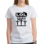 Jesus BRB LOL T-Shirt (White) F