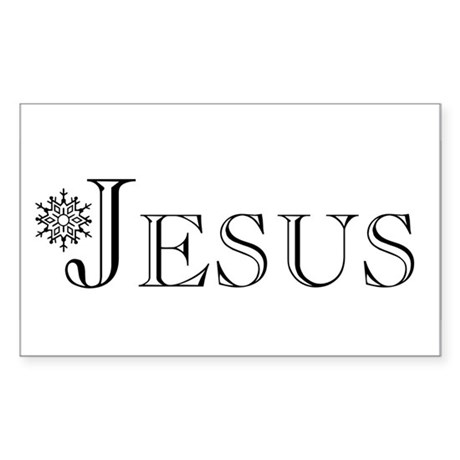 Jesus Rectangle Sticker