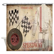 Speedway Shower Curtain