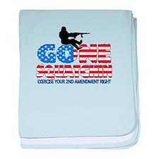 Gone Squatchin USA baby blanket