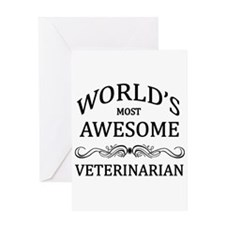 World's Most Awesome Veterinarian Greeting Card
