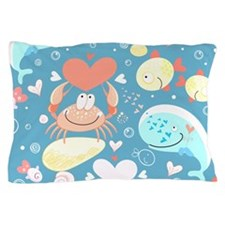 Cute Sea Life Pillow Case