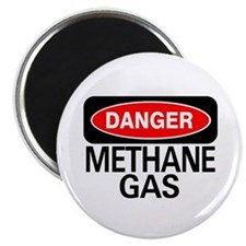 "Danger Methane Gas 2.25"" Magnet (100 pack)"
