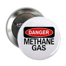 "Danger Methane Gas 2.25"" Button (10 pack)"