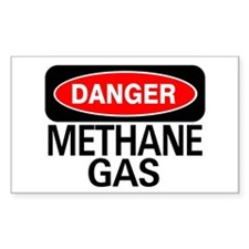 Danger Methane Gas Rectangle Decal