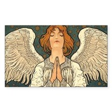 Vintage Angel Praying Decal