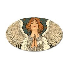 Vintage Angel Praying Wall Decal