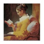 """Young Girl Reading"" Tile Coaster"