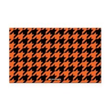 Houndstooth Orange Rectangle Car Magnet