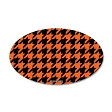 Houndstooth Orange Wall Decal