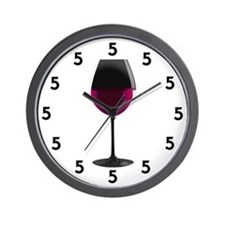 Red Wine at 5 Wall Clock