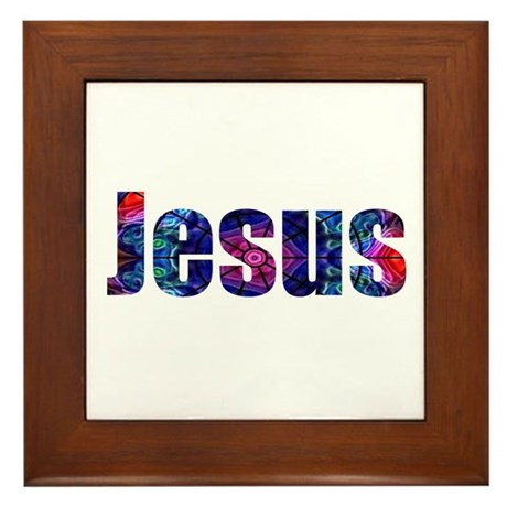 Jesus Framed Tile