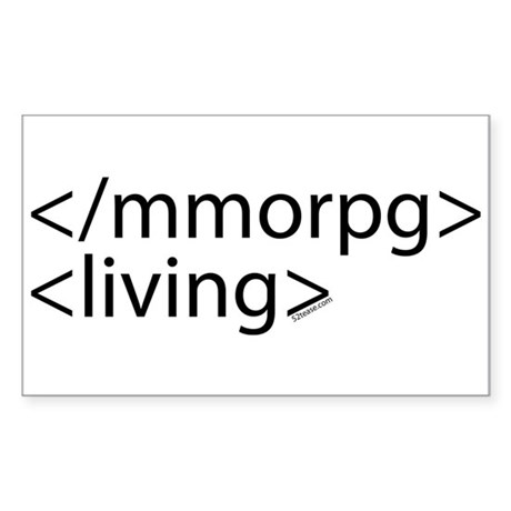 HTML Joke-MMORPGs Rectangle Sticker